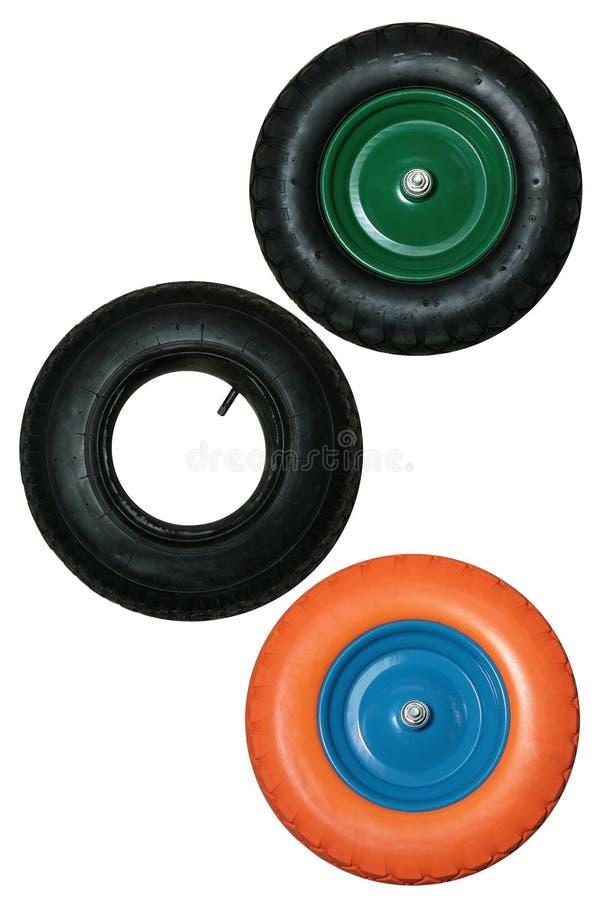 Установите колес для тачки стоковое фото rf