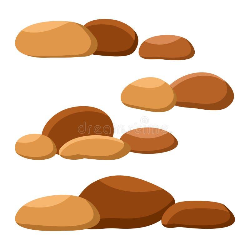 Установите коричневых камней r бесплатная иллюстрация
