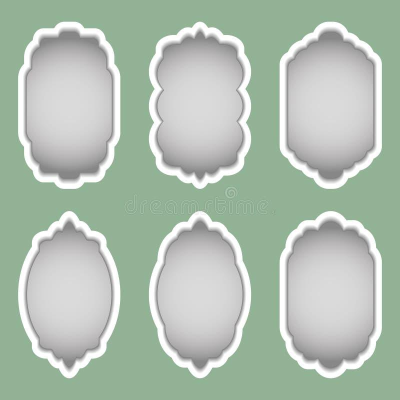 Установите красочных рамок различных форм r иллюстрация штока