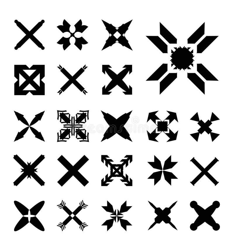 Установите кресты иллюстрация штока