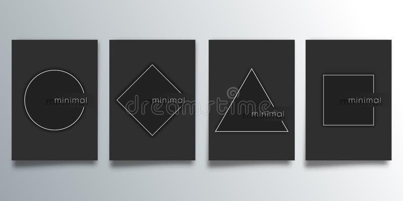 Установите минимальной предусматрива дизайна с геометрическими диаграммами для летчика, плаката, шаблона брошюры, оформления или  иллюстрация вектора