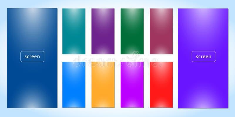 Установите мягкой предпосылки цвета иллюстрация штока