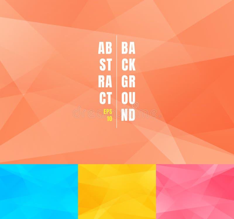 Установите низкой поли ультрамодной абстрактной предпосылки Графический дизайн форм полигонов современных геометрических треуголь иллюстрация штока