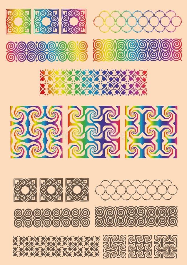 Установите обманы зрения геометрических объектов иллюстрация штока