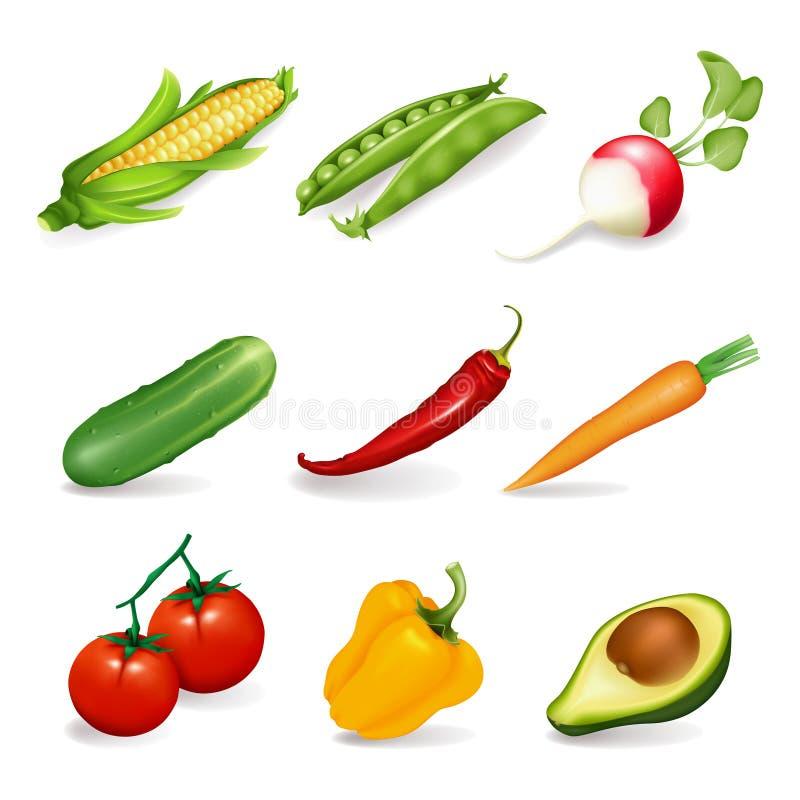 установите овощи