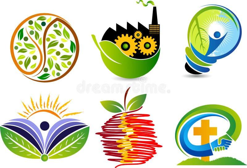 Установите логотипы собрания иллюстрация вектора