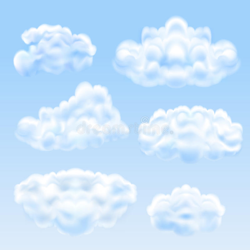 Установите от облаков иллюстрация вектора