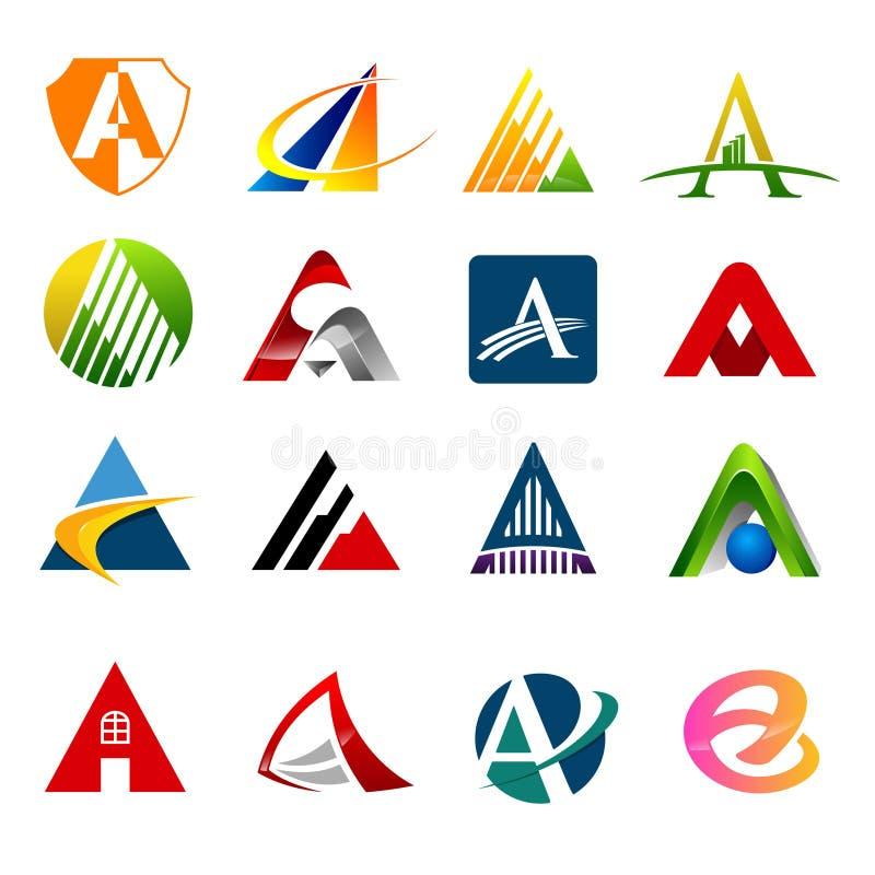 Установите письмо логотип с различными вариантами письмо a, стоковые изображения rf