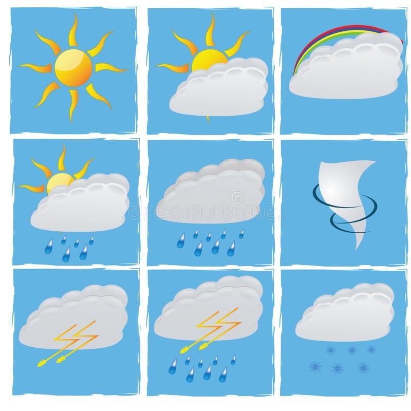 Установите погоду вектора стоковое изображение rf