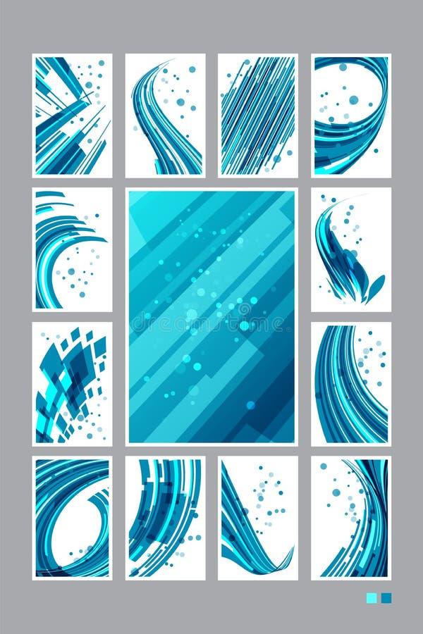 Установите предпосылку абстрактной технологии, визитные карточки иллюстрация вектора