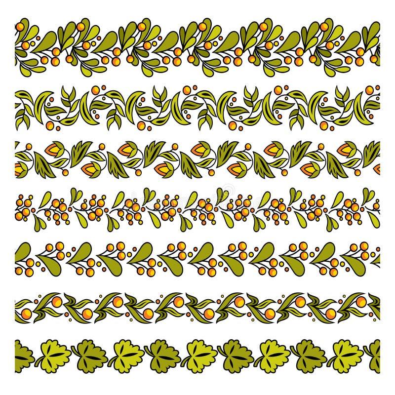 Установите простого флористического элемента иллюстрация штока