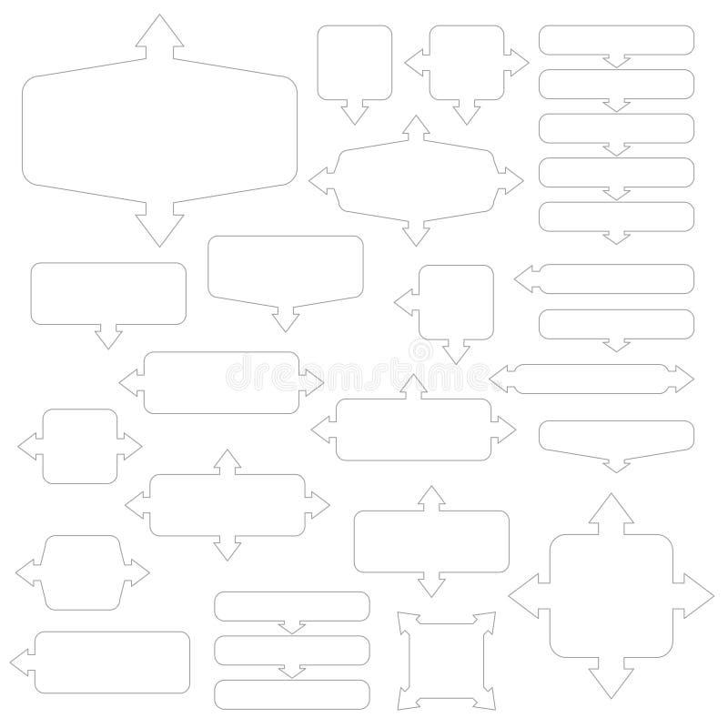 Установите различных белых рамок со стрелками бесплатная иллюстрация