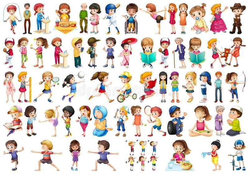 Установите различных людей иллюстрация штока