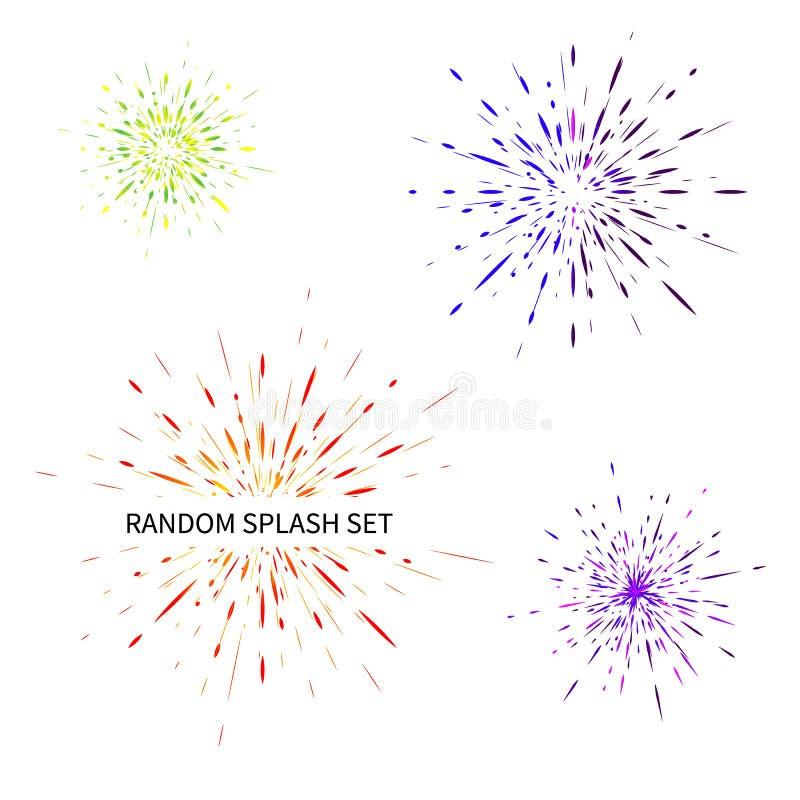Установите различных радиальных взрывов, лучей бесплатная иллюстрация
