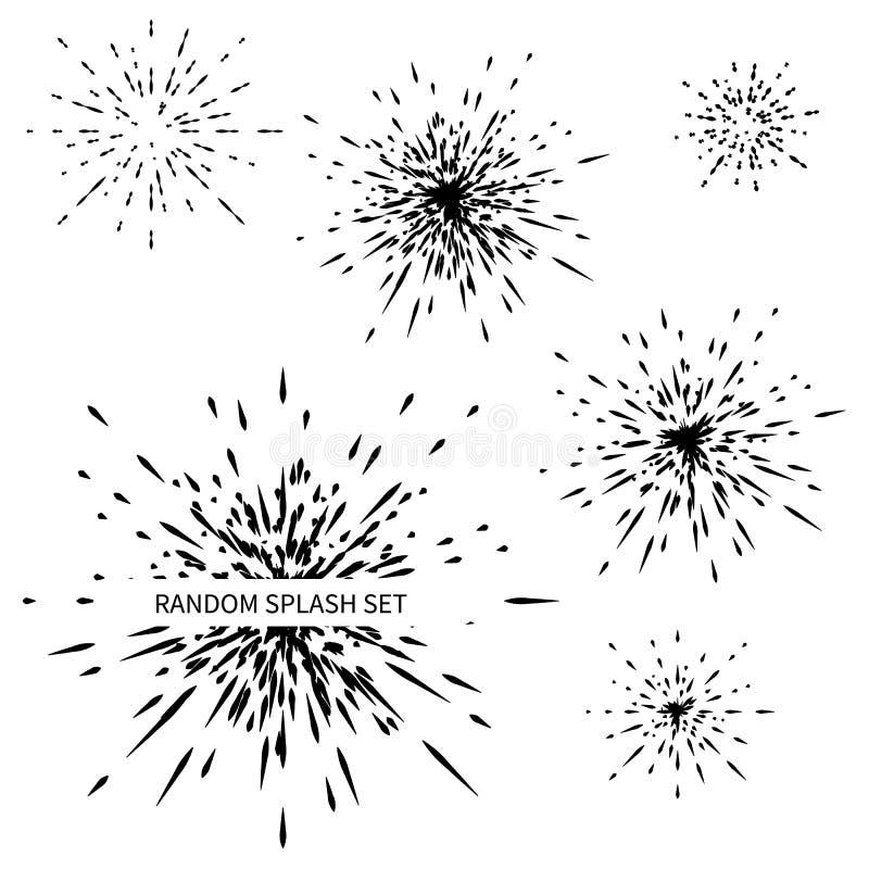 Установите различных радиальных взрывов, лучей иллюстрация штока