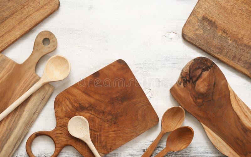 Установите различных утварей кухни стоковые изображения rf