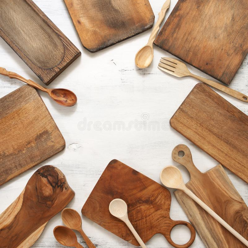Установите различных утварей кухни стоковое фото rf