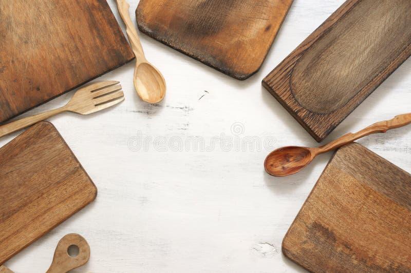 Установите различных утварей кухни стоковые фото
