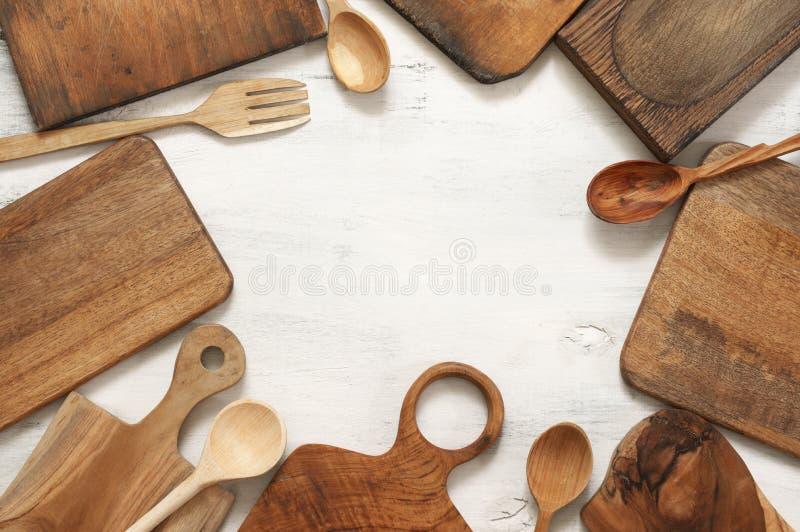 Установите различных утварей кухни стоковая фотография