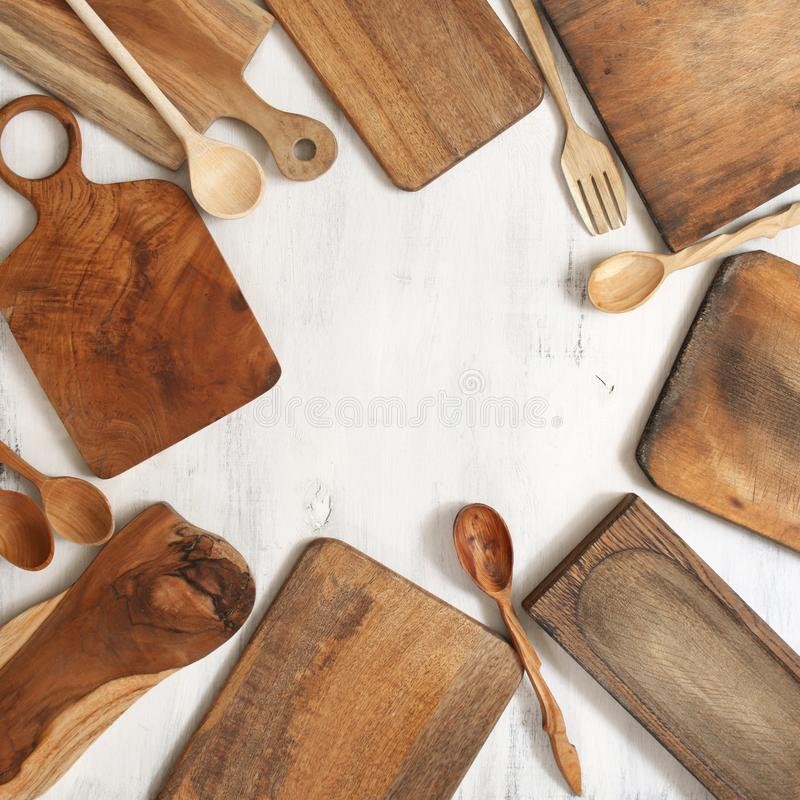 Установите различных утварей кухни стоковое изображение rf