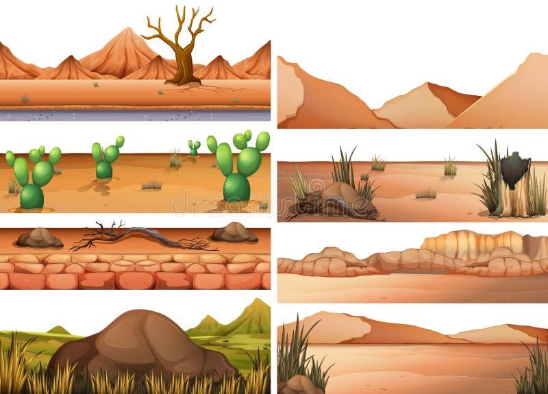 Установите района неорошаемого земледелия иллюстрация штока