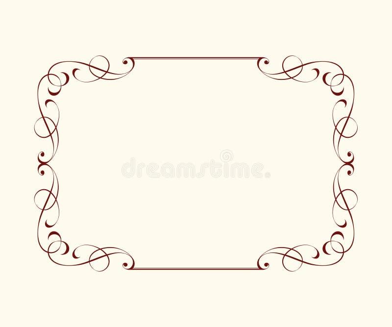 Установите рамки вектора ретро также вектор иллюстрации притяжки corel иллюстрация штока