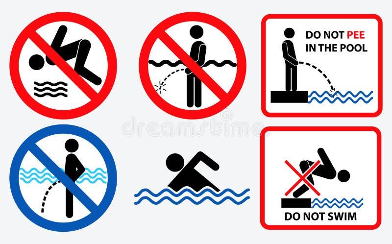 Установите санитарного знака иллюстрация штока