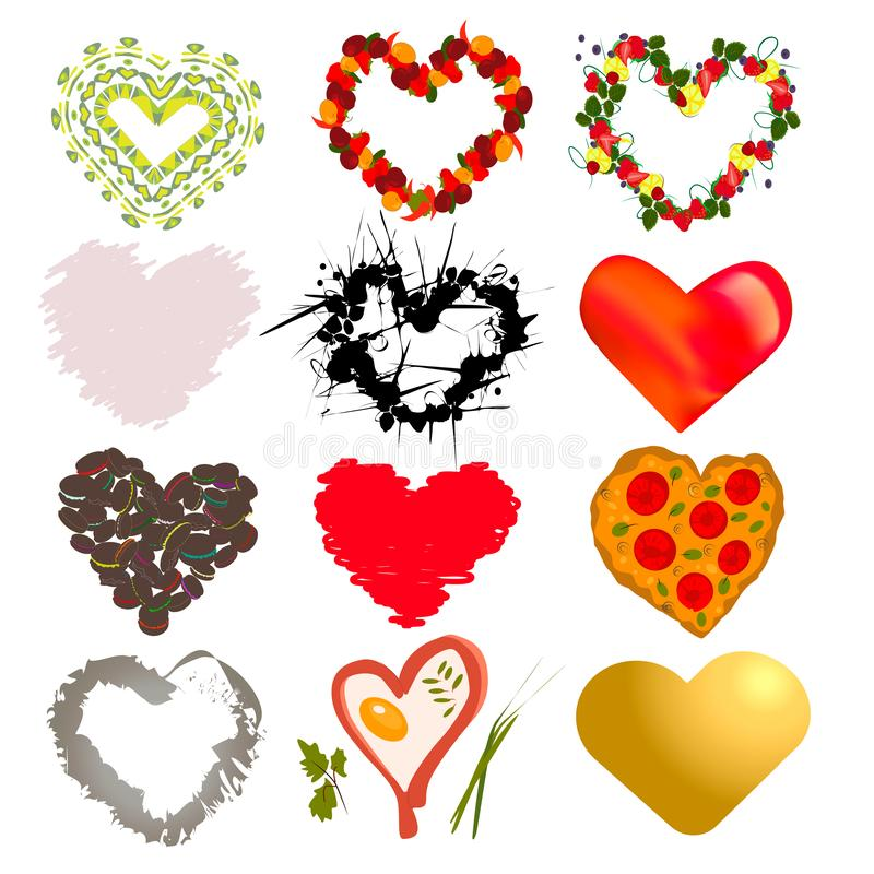 Установите сердец бесплатная иллюстрация