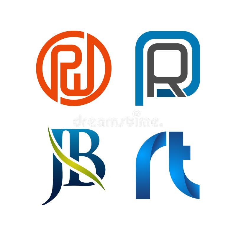 Установите символа для шаблона дизайна логотипа дела Собрание значков конспектов современных для организации иллюстрация вектора
