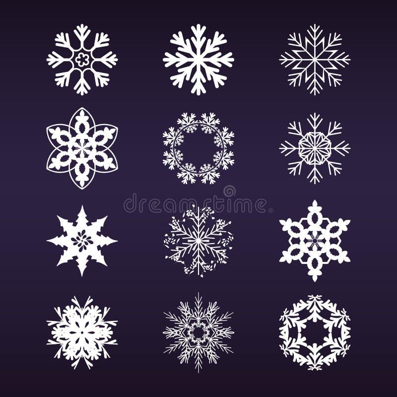 установите снежинку иллюстрация штока