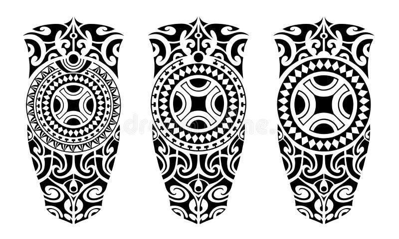 Установите стиля эскиза татуировки маорийского бесплатная иллюстрация