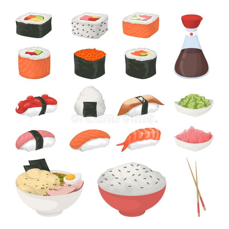 установите суши белым бесплатная иллюстрация