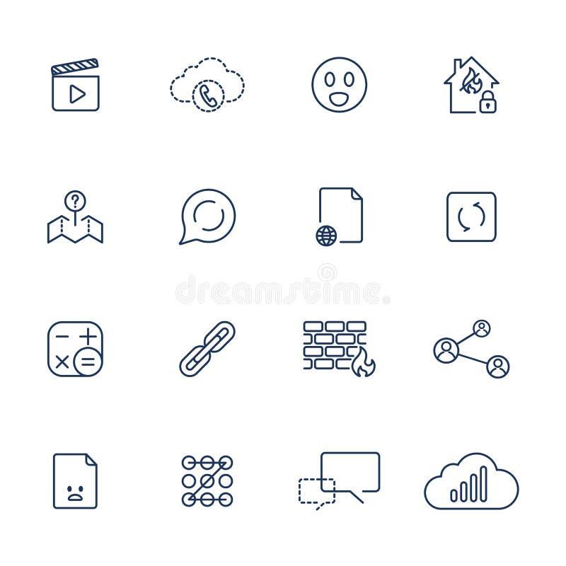 Установите с различными значками бесплатная иллюстрация
