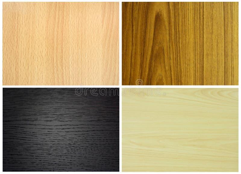 установите текстуры деревянным стоковые изображения