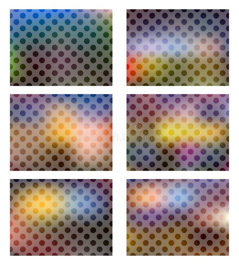 Установите темных покрашенных абстрактных предпосылок иллюстрация штока
