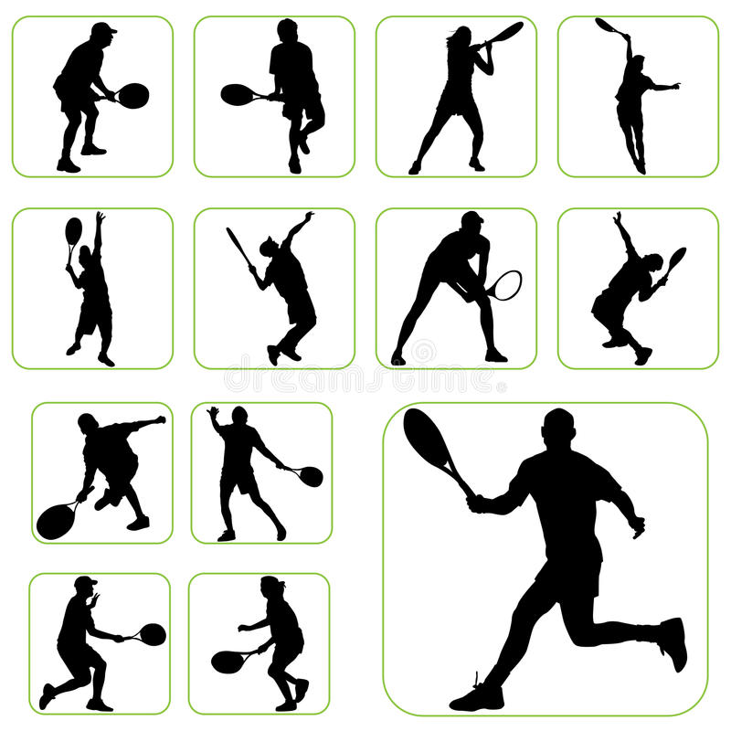установите теннис иллюстрация штока