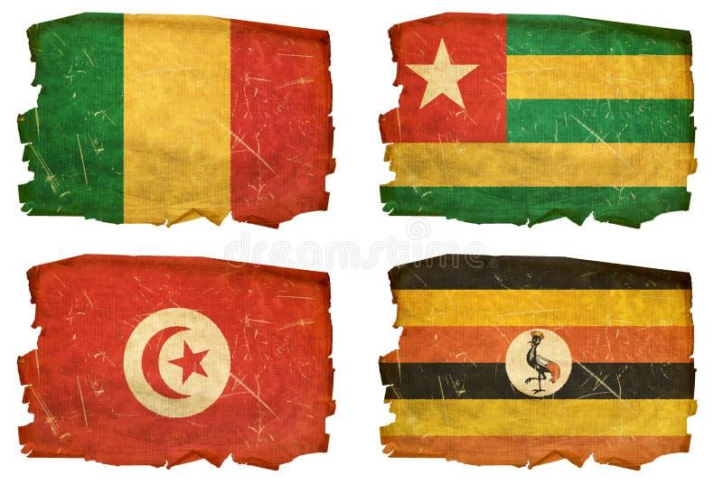 Установите флаги старые # 16 бесплатная иллюстрация