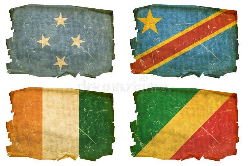 Установите флаги старые # 41 стоковые фото