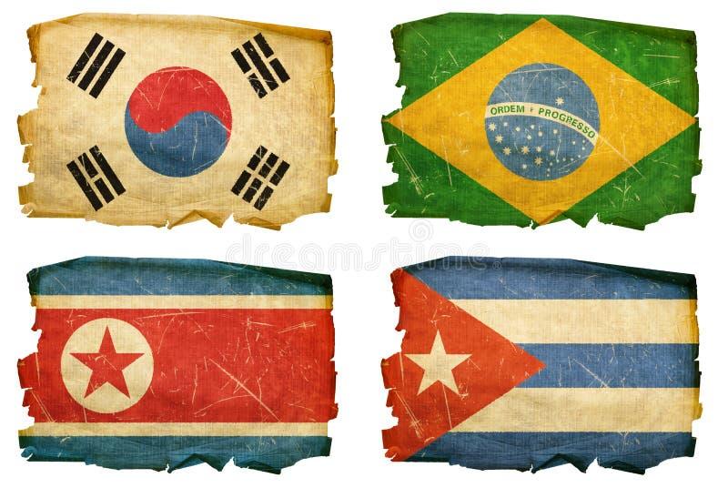 Установите флаги старые # 5 стоковое фото rf