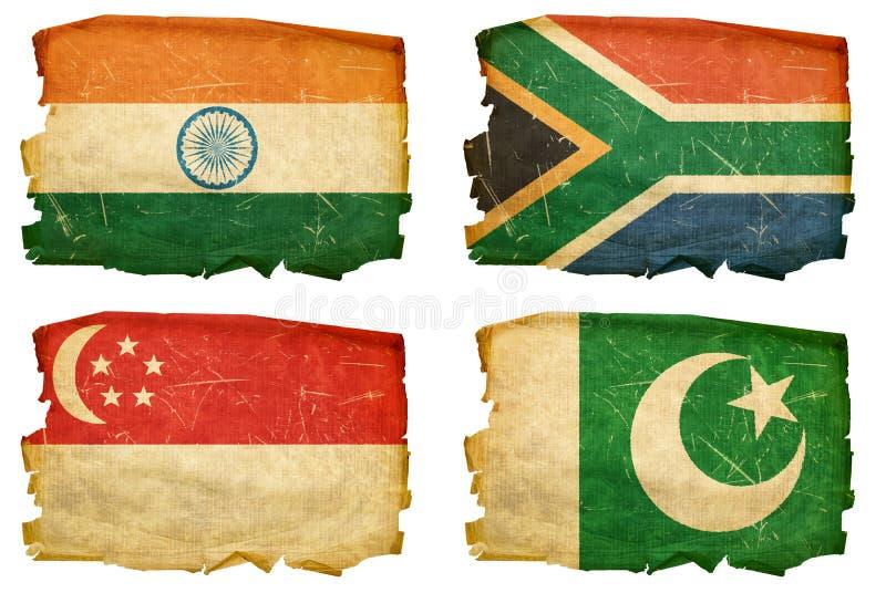 Установите флаги старые # 7 стоковое фото rf