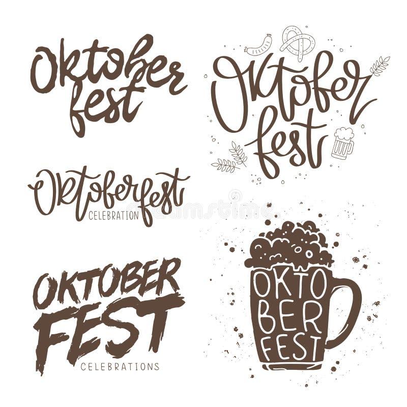 Установите цитаты для Oktoberfest иллюстрация вектора