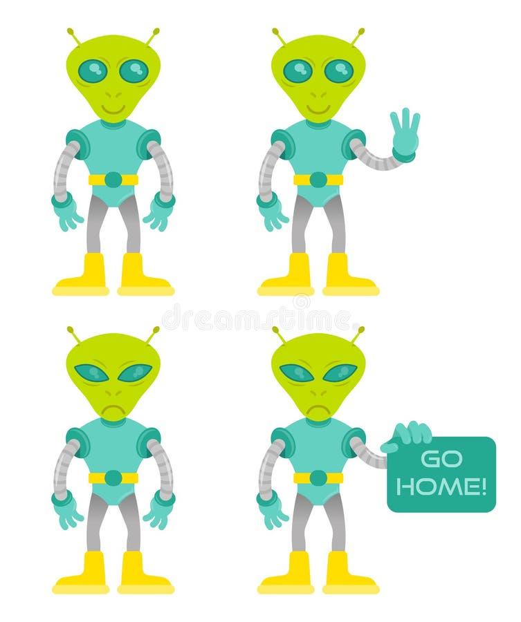Установите чужеземца иллюстрация вектора
