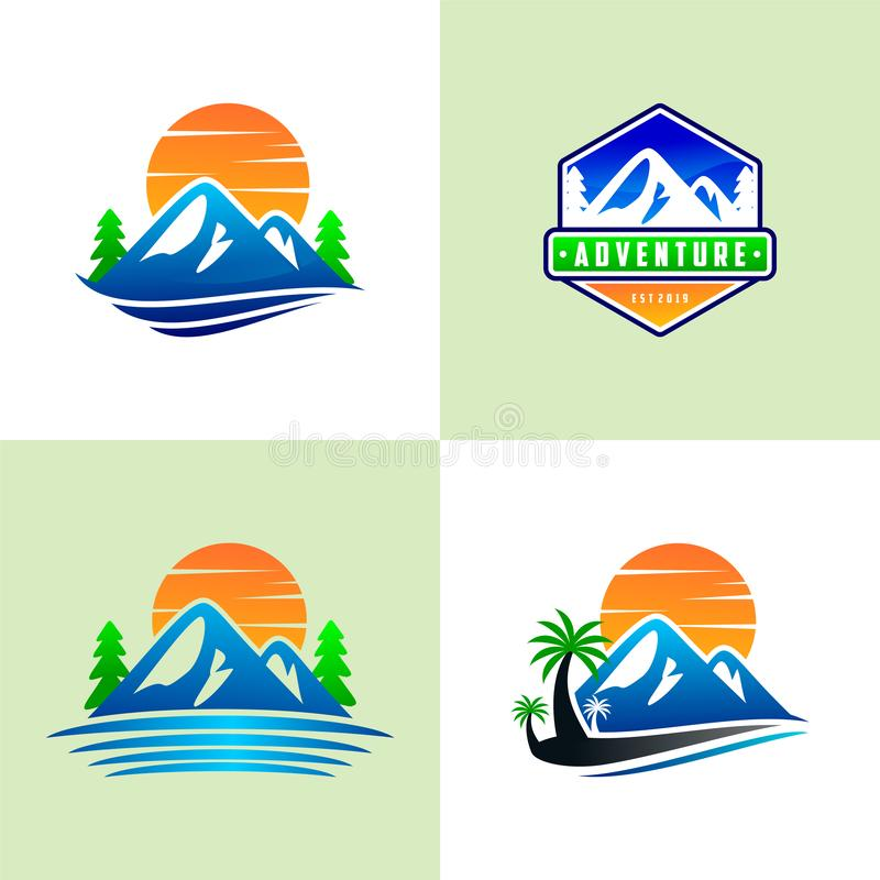 Установите шаблонов логотипа горы