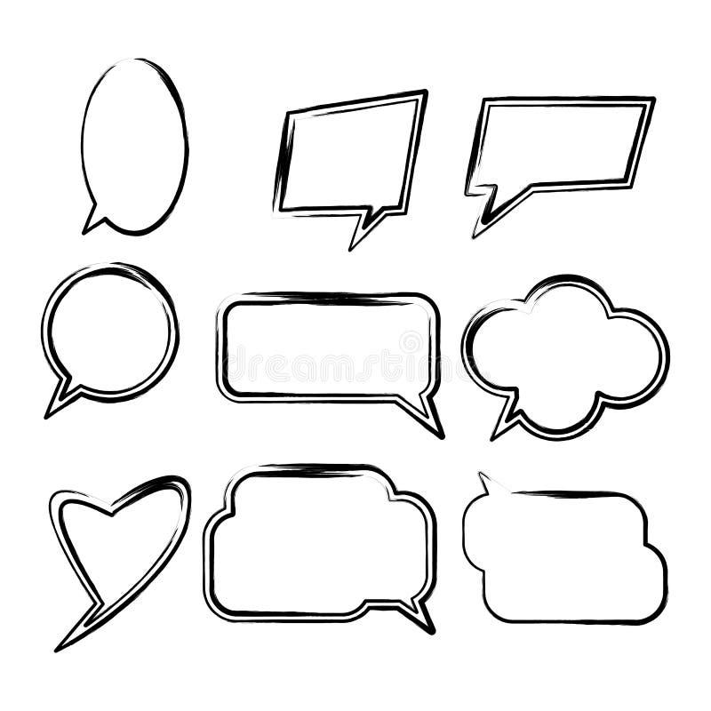 Установите шуточных пузырей речи иллюстрация вектора
