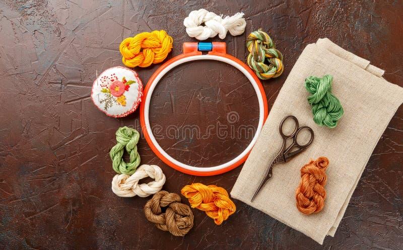 Установите для вышивки стоковая фотография rf