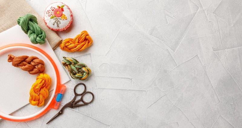 Установите для вышивки стоковое изображение