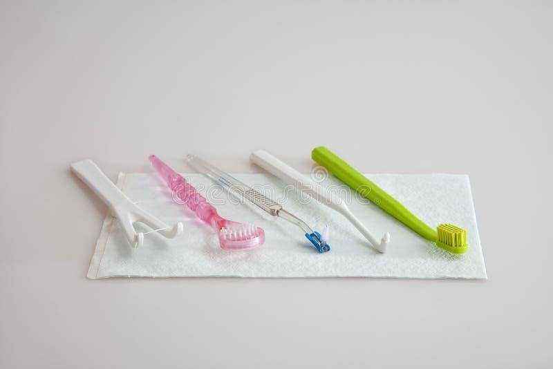 Установите для гигиены полости рта стоковые изображения