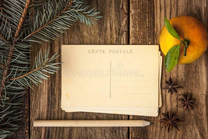 Установите для записи рождественских открыток стоковые изображения rf