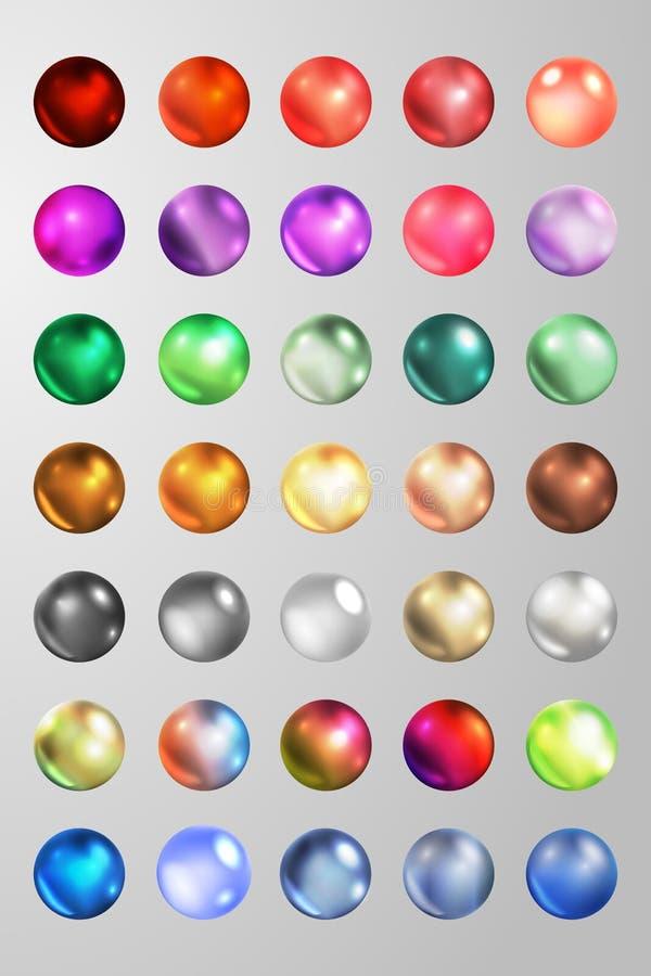 Установите perls также вектор иллюстрации притяжки corel 10 eps бесплатная иллюстрация