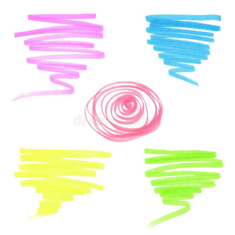 Установите scribbles ручки хода ot иллюстрация штока